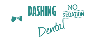 dashing dog dental logo