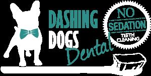 dashing dog dental logo